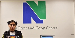 Naugatuck Valley Community College Art Student Gives Print and Copy Center a Fresh Look