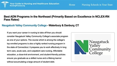 Naugatuck Valley Community College Nursing Program Ranks Among Top Colleges in the Northeast