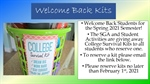 FREE Welcome Back Kits - Reserve in Student Activities